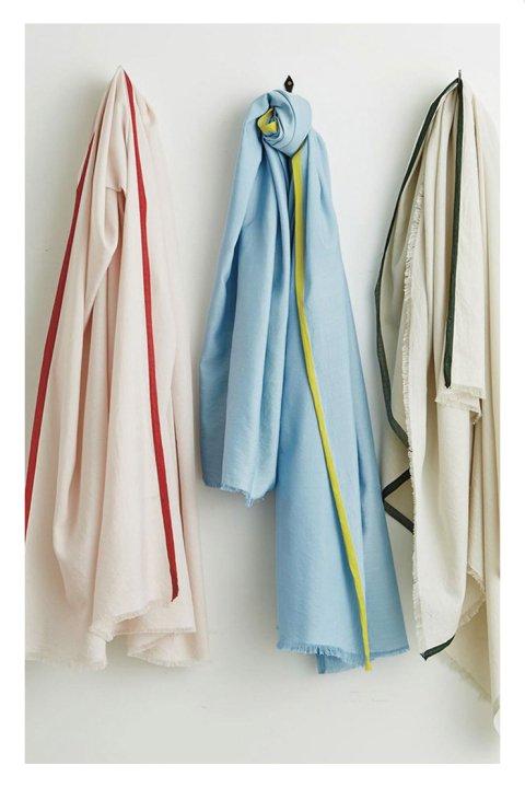 Cotton Silk Selvadge Color Stole