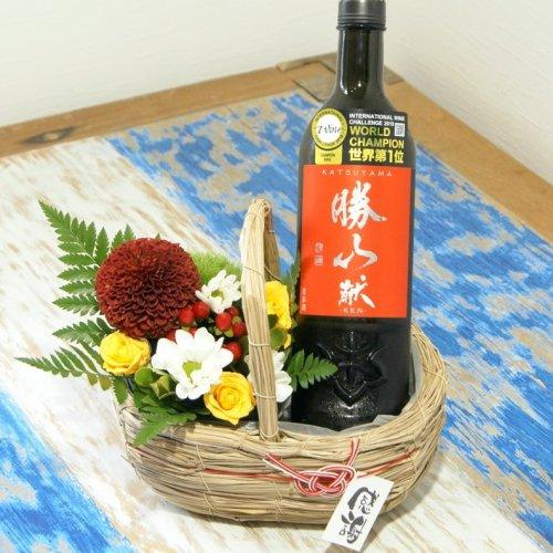 【2021 父の日】フラワーアレンジメント&「勝山 献 純米吟醸 720ml」