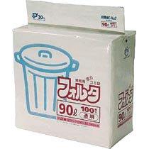 【在庫限り】<br>ゴミ袋フォルタ 90L 透明
