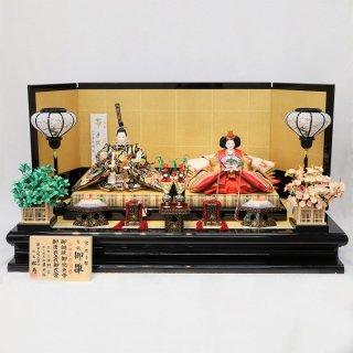 雛人形 小出松寿作 京7番 袋帯 山口美術織物 立涌桐紋