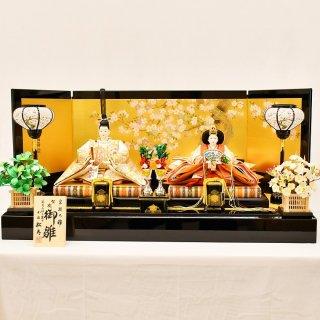 雛人形 小出松寿作 京9番 金彩京刺繍 古代鏡文様白