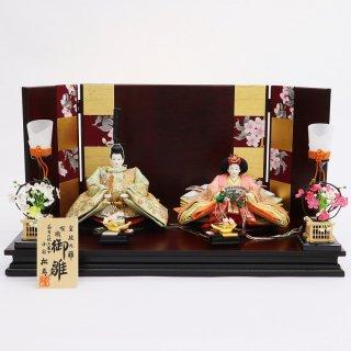 雛人形 小出松寿作 京11番 金襴地に刺繍入りオーガンジー