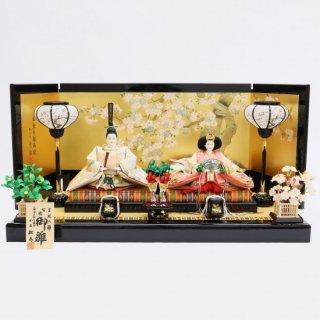 雛人形 小出松寿作 京10番 袋帯 雪輪に花の丸文様