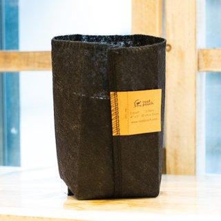 【プラスチックフリー】植物と環境に優しいルーツポーチ [Root Pouch Black 1QT(育苗ポット)]