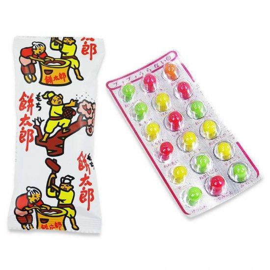 餅太郎(1個)  /  プチプチ占いチョコ(1個)  /  30, 30  /  Y, E
