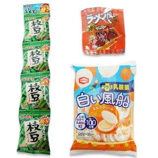 4P(内1)カリッと枝豆  /  18袋入(内1)白い風船  /  ラーメン太郎(1個) 【学】