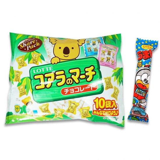 大袋(内1)コアラのマーチ  /  うまい棒(1個)(とんかつソース) 【学】