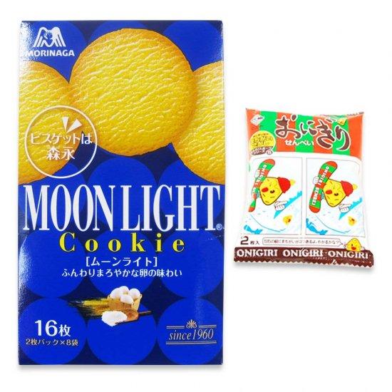 7袋入(内1)ムーライトクッキー  /  2枚おにぎりせんべい(1個)  【学】