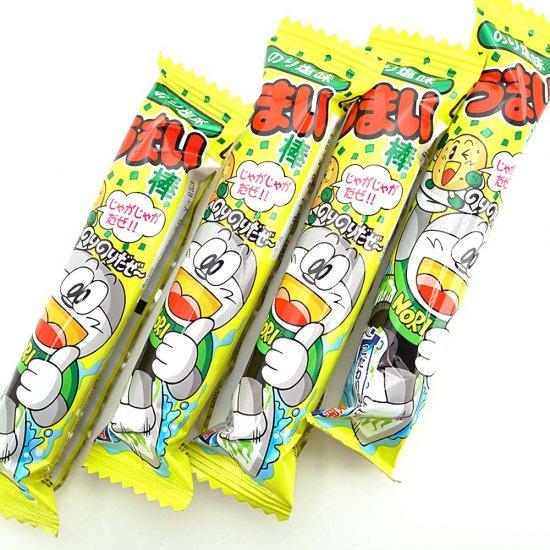 やおきん うまい棒 のり塩味(1個売)スナック菓子【学】