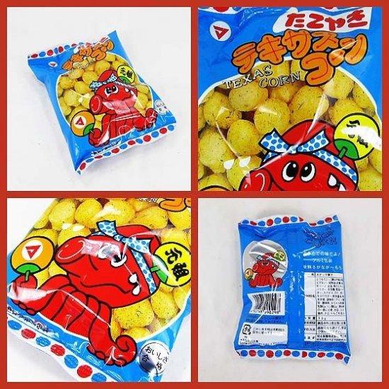 松山 テキサスコーン たこやき ( 30袋入 ) スナック菓子【学】