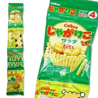 カルビー じゃがりこ サラダ bits4  4p(12個入)スナック菓子【学】【幼】