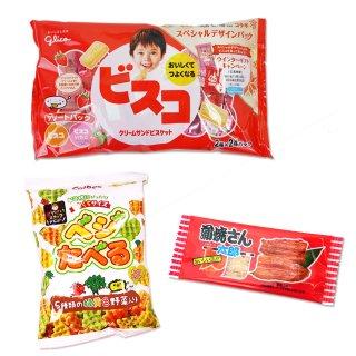 ベジたべるあっさりサラダ(1個)  /  大袋(内1)ビスコアソート  /  蒲焼さん太郎(1枚) 【学】