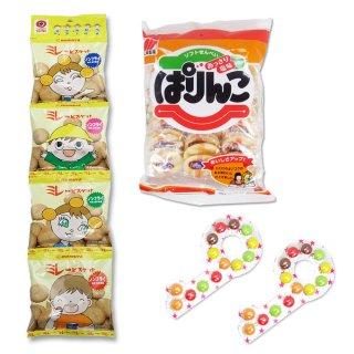 4P(内1)ミレービスケット  /  大袋(内1)ぱりんこ  /   かぎチョコ(1個)【学】