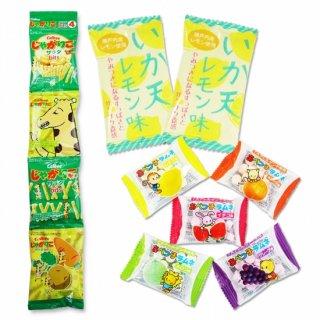 4P(内1)じゃがりこBits  /  イカ天レモン(1個)  /  あべっ子ラムネ(1個)【学】【幼】