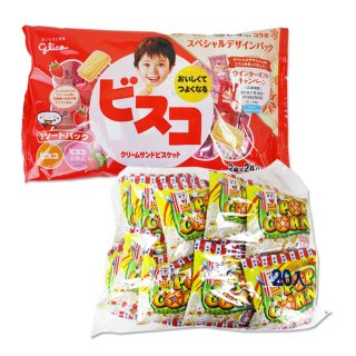 ポップコーン(1個)  /  大袋(内1)ビスコアソート 【学】