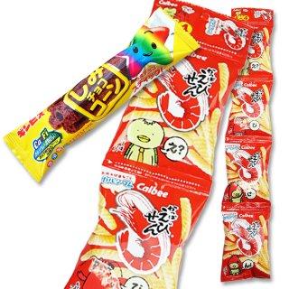 4P(内1)かっぱえびせん  /  しみチョココーンスティック(1個) 【学】