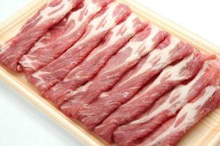 JAうご産 豚肉 しゃぶしゃぶ用(カタロース)スライス1kg 送料無料
