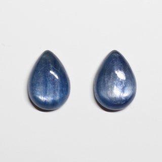カイヤナイト 10×14mmドロップ型/ルース 【2個セット】<002>