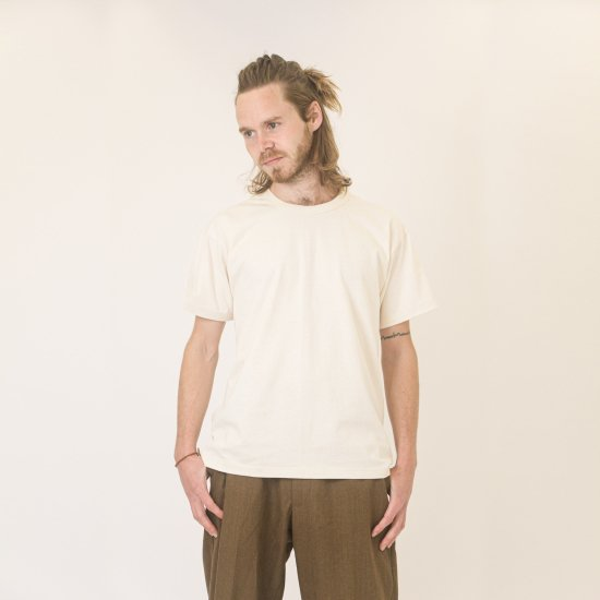 Short Sleeve Crew Tee Natural