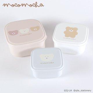 モコモカ 抗菌3P入れ子ランチBOX(スクエア) フレンズ/フェイス