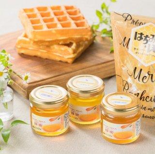 季節の蜂蜜セット〈80g×3種+はちみつ&レモンキャンディ〉(富山県で採れた美味しい蜂蜜)