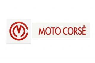 MOTO CORSE デカール ラージサイズ レッド