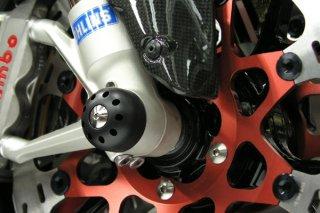 アクスルスライダー with チタニウム フロント for  Ducati 1198 / Multistrada 1200 / Monster 1200 / Supersport 939