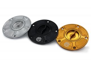 CNC ビレット アルミニウム クイックオープン フューエルタンクキャップ for Kawasaki Z900RS / H2 / H2R