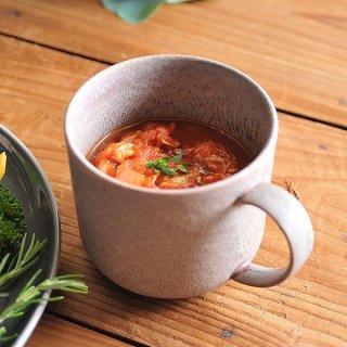 グレージュマグカップ 9.5cm パン&スープ 業務用 g-1930-03