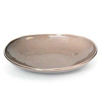 ベージュいっぷく楕円鉢M 24.6cm パン&スープ 業務用 g-1931-06