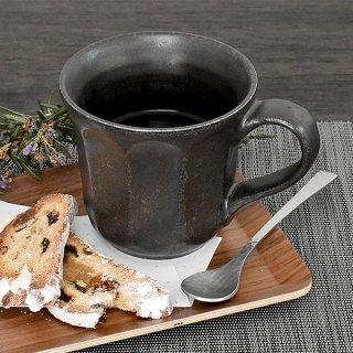 リンカブラック マグカップ 12.5cm 和の器 業務用 g-1935-07