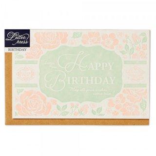 LPカード 誕生日 フラワー