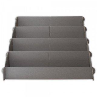 紙製汎用4段ディスプレイ グレー