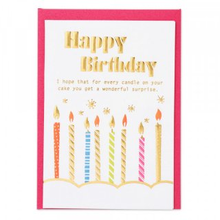 HPミニカード 誕生日 キャンドルA