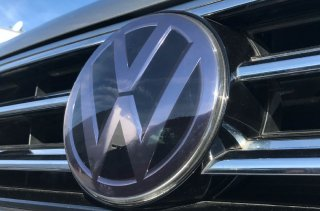 core OBJ<br>Front Emblem Protector Clear Smoke type<br>  for Volkswagen(145φ)