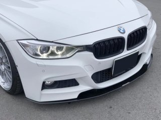 Produced by Next innovation<br>for BMW 3Series M Sport (F30/F31)<br>Front Splitter/グロスブラック5�