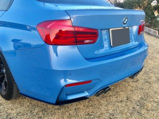 Produced by Next innovation<br>for BMW M3 (F80) / M4 (F82)<br>Rear Splitter/グロスブラック 5�