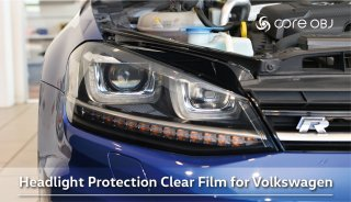core OBJ Headlight Protection Clear Film for Volkswagen