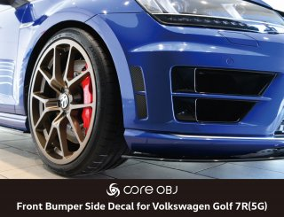 core OBJ Front Bumper Side Decal for Golf 7R