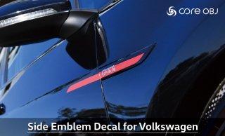 core OBJ Side Emblem Decal for Volkswagen