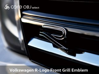core OBJ select <br>Volkswagen R-Logo Front Grill Emblem