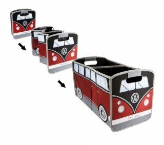 BRISA<BR>VW T1バス 折りたたみ収納ボックス - 赤/黒