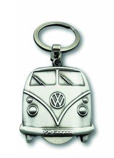 BRISA<BR>VW T1バスキーホルダー(VWコイン付き)- ビンテージシルバー