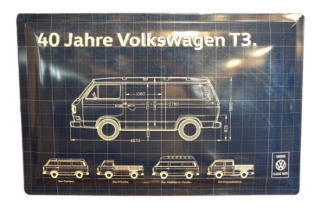 【OUTLET SALE 限定4枚】<br>Volkswagen Classic Parts<BR>T3 メタルサインボード
