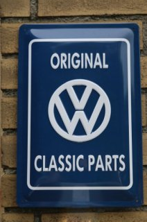 【OUTLET SALE 限定4枚】<br>Volkswagen Classic Parts<BR>ORIGINAL ガレージサイン(小)