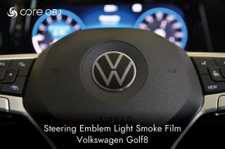 <img class='new_mark_img1' src='https://img.shop-pro.jp/img/new/icons15.gif' style='border:none;display:inline;margin:0px;padding:0px;width:auto;' />core OBJ<br>Steering Emblem Light Smoke Film<br>Volkswagen Golf8