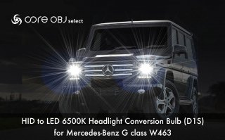 core OBJ select<br>HID to LED 6500K Headlight Conversion Bulb D1S<br>for Mercedes-Benz G class W463