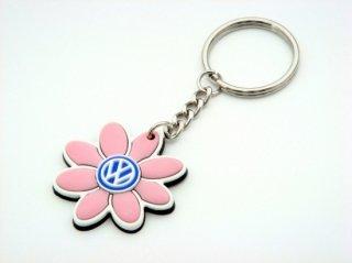 Volkswagen of America アクセサリー<br>Volkswagen DAISY FLOWER KEY RING<br>Pink / White