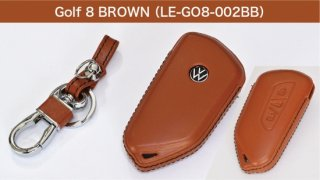 core OBJ select<br>Brown Leather Key Cover<br>for Volkswagen Golf8