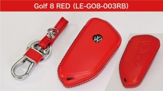 core OBJ select<br>Red Leather Key Cover<br>for Volkswagen Golf8